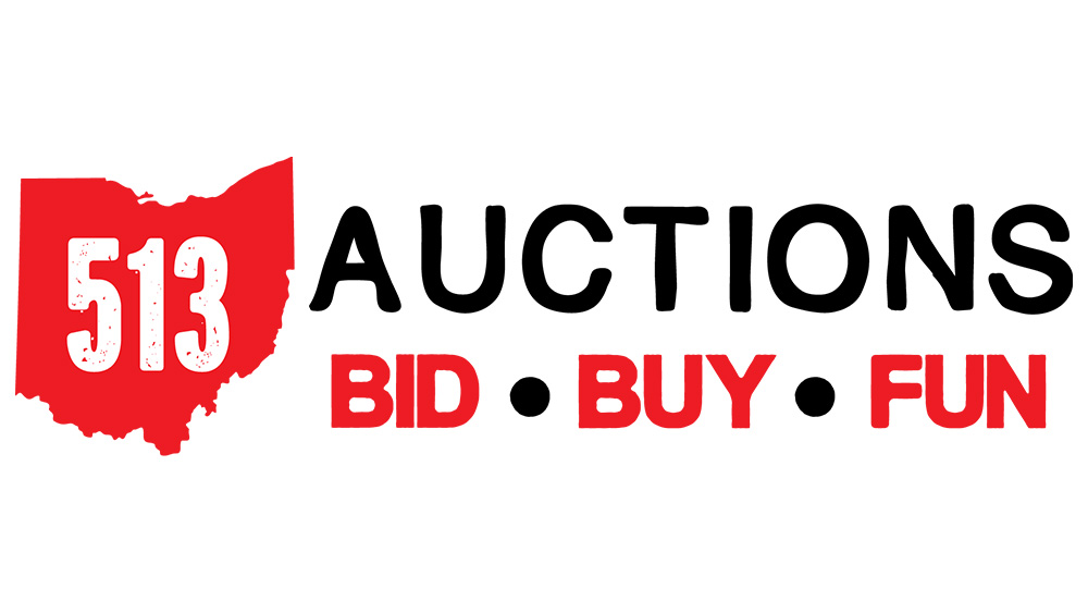 513 auction logo design first fortune marketing cincinnati, ohio graphic design