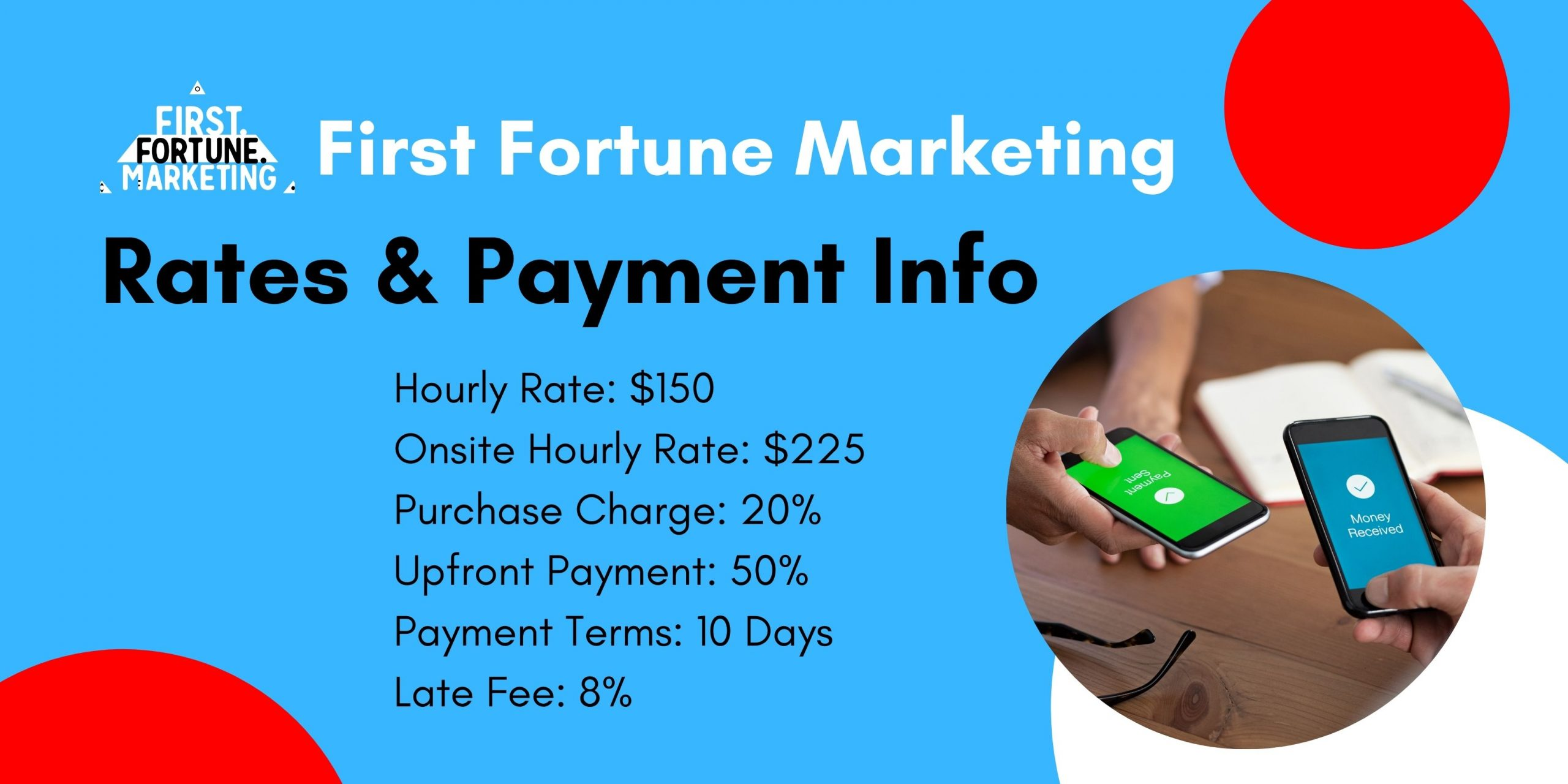 First Fortune Marketing Payment infographic