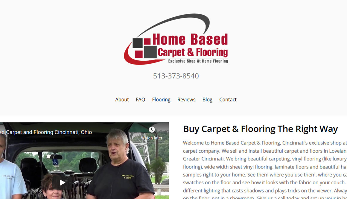 Website Design Portfolio carpet website